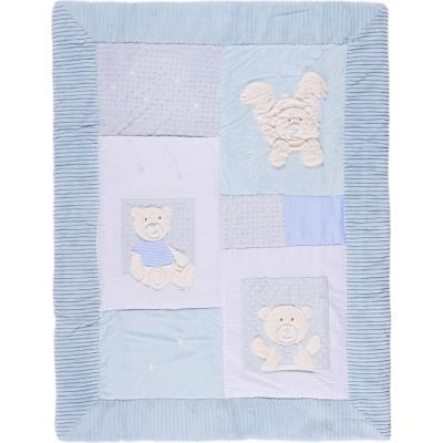 Cobertor cuna oso celeste 90x120 cm