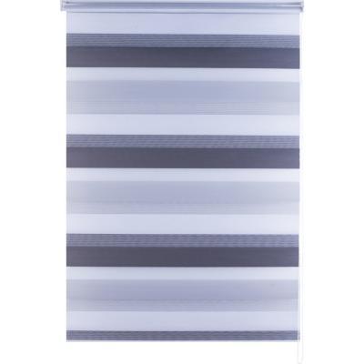 Cortina enrollable duo Zebra 150X170 cm gris