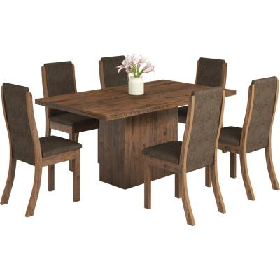 Comedor rectangular madera roble