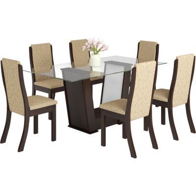 Comedor 6 sillas rectangular vidrio