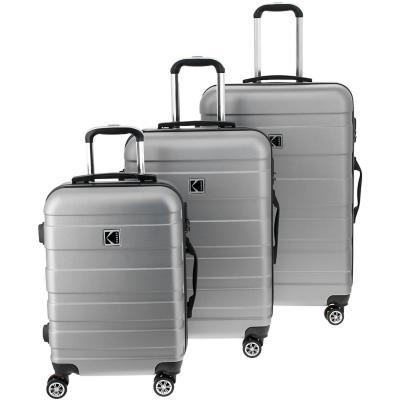 Set de 3 maletas rigidas Gris