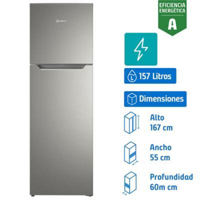 Refrigerador No Frost Top Mount freezer 251 l silver