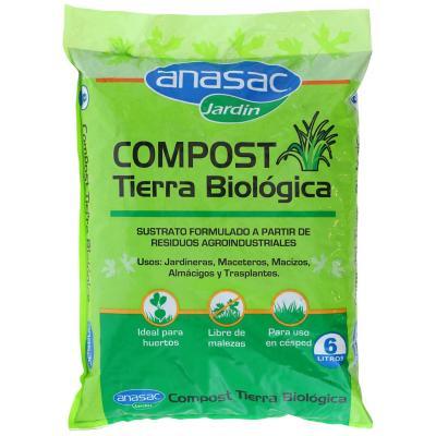 Tierra biológica compost 6 litros bolsa