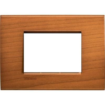 Placa rectangular 3 módulos Cerezo