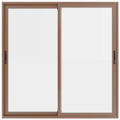 Ventana aluminio select madera termopanel 150x150 cm corredera