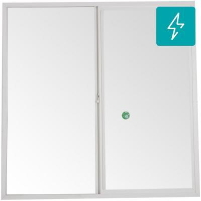 Ventanal termopanel PVC americano klassik 150x150 blanco corredera