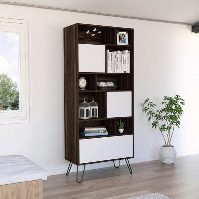 Biblioteca 171x72x39 cm habano/blanca