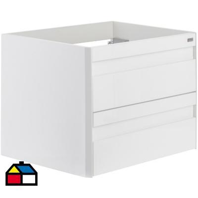 Mueble vanitorio 2 cajones blanco