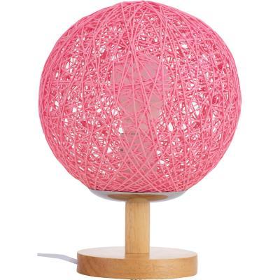 Lámpara infantil 1 luz madeja rosa E27
