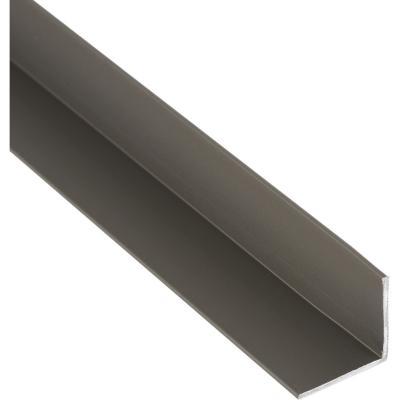 Pack ángulo aluminio 20x20x1 mm titanio  3 m, 6 unidades