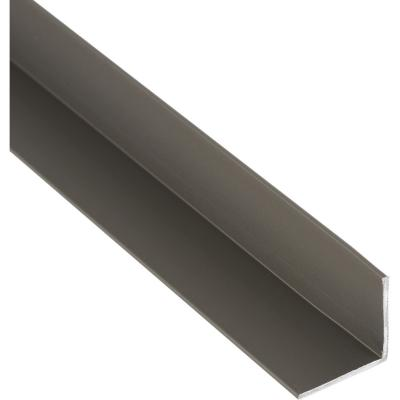 Pack ángulo aluminio 15x15x1 mm titanio  3 m, 6 unidades