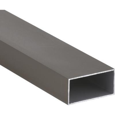 Pack tubular aluminio 100x50x1,5 mm titanio  6 m, 6 unidades