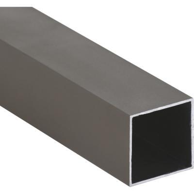 Pack tubular aluminio 30x30x1 mm titanio  6 m, 6 unidades