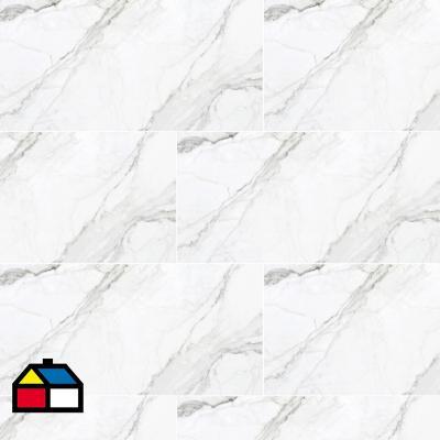 Porcelanato esmaltado pulido  60x120 cm blanco 1,44 m2