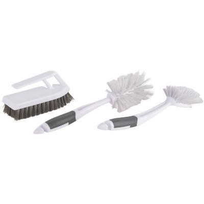 Set de 3 cepillos para limpieza