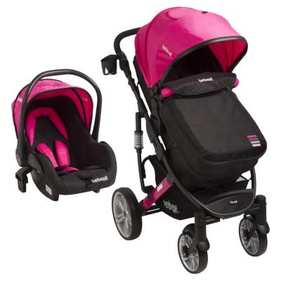 Coche travel system quest Negro/Rosado
