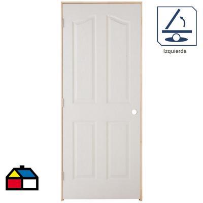 Puerta Lista HDF Kiyen Precolgada apertura izquierda 80 x 200cm