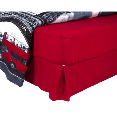 Plumón torre + sábana + faldón rojo italiano 1,5 plazas