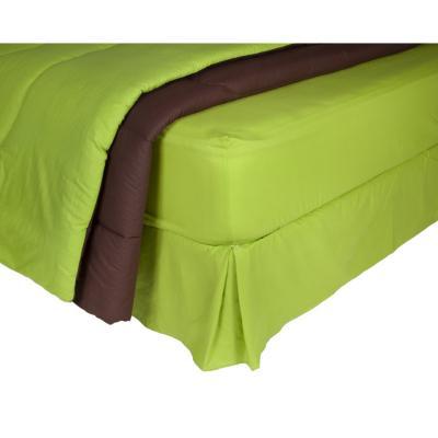 Plumón bicolor  + sábana 144 hilos + faldón  1,5P