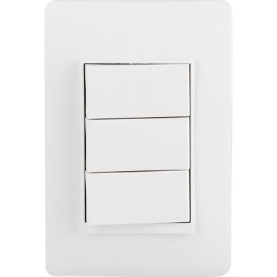 Interruptor conmutador triple (9/24) 10 A Blanco