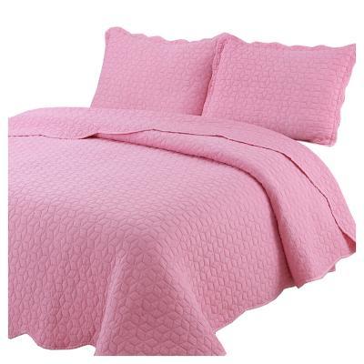 Quilt stonewash rosa niña 2 plazas