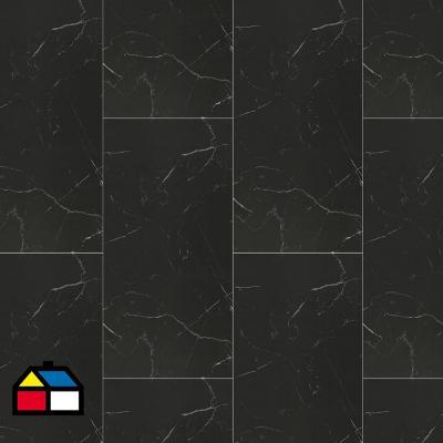 Porcelanato esmaltado pulido 60x120 cm negro 1.44 m2