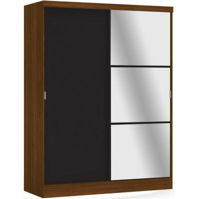 Closet 2 cajones 2 puertas teca/negro