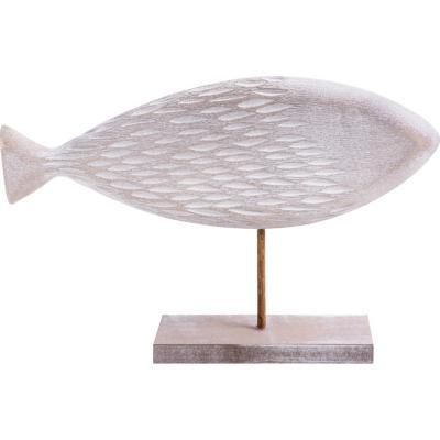 Pez con base madera tallado 40 cm