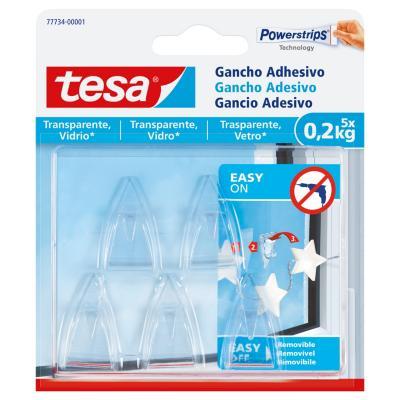 Gancho adhesivo para superficies transparentes y vidrio 0,2 kg