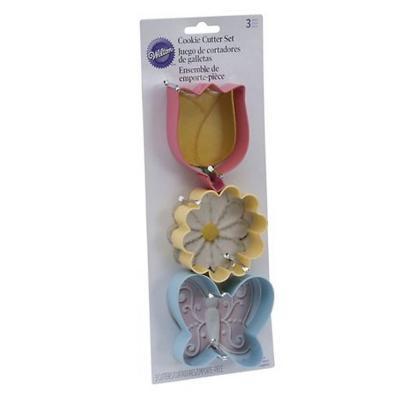 Cortador galleta 3un flores/ma