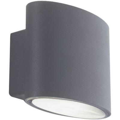 Apliqué exterior Ovalado 2L led aluminio gris