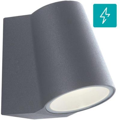 Apliqué exterior Recto led 1L aluminio gris