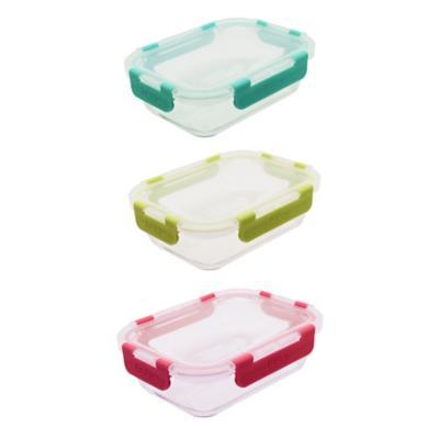 Contenedor de vidrio rectangular 1040 ml