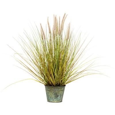Planta artificial dogtail grass amarillo