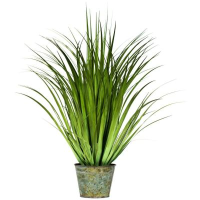 Planta artificial grass redondo verde 75 cm
