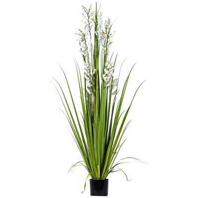 Planta artificial grass flor blanca 180 cm