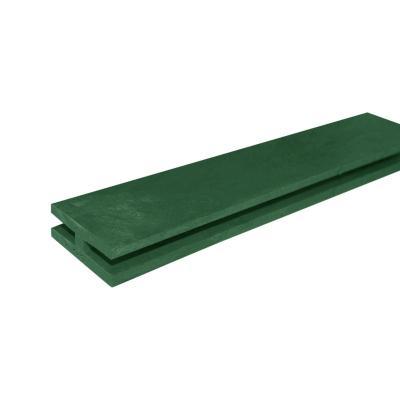 Perfil h treillage 2,40 m verde oscuro