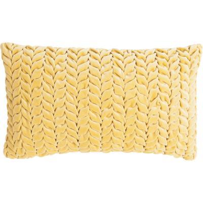 Cojín Trenza Velvet Mostaza 30x50 cm
