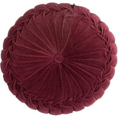 Cojín Velvet Burdeo 40x10 cm