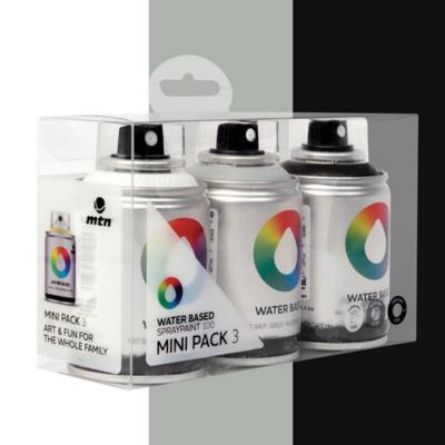 pack base agua 3 colores gris negro blanco 100 ml