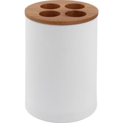 Portacepillo Bamboo blanco
