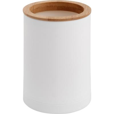 Vaso para baño bamboo blanco