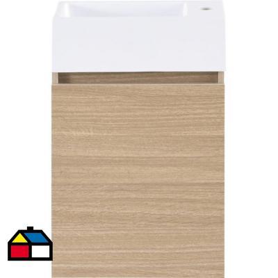 Mueble vanitorio gunnar resina 40x22x62 cm ds3 1 puerta