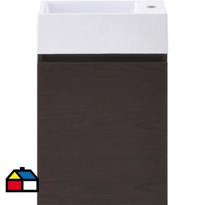 Mueble vanitorio gunnar resina 40x22x62 cm ds9 1 puerta