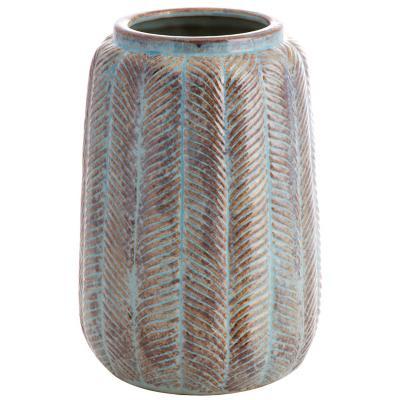 Vasija cerámica 29 cm azul-oxido