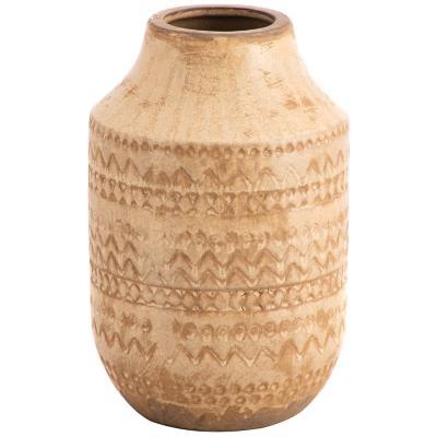 Vasija cerámica diseño 25 cm beige