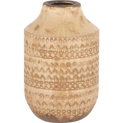 Vasija cerámica diseño 20 cm beige