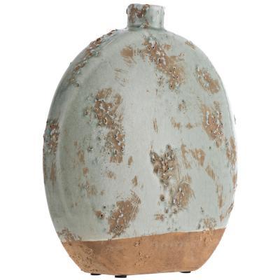 Vasija cerámica Oval 30 cm celeste