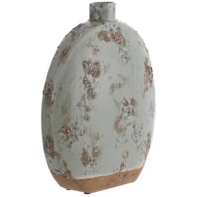 Vasija cerámica Oval 34,5 cm celeste