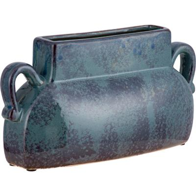 Vasija cerámica Oreja 28 cm azul